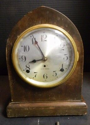Vintage Seth Thomas Beehive No. 2 Leader Mantle Clock w/ Key & Pendulum Good