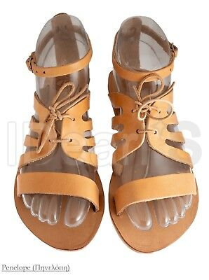 Ancient Greek Handmade Leather Sandals Penelope (Made In Greece)