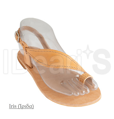 Ancient Greek Handmade Leather Sandals (Iris) (Made In Greece)