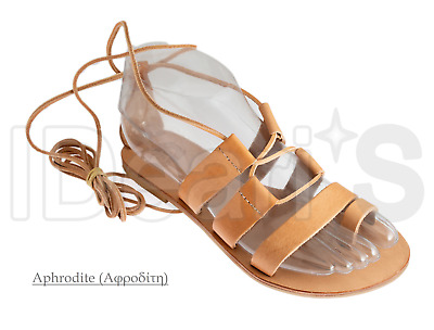 Ancient Greek Handmade Leather Sandals (Aphrodite) (Made In Greece)