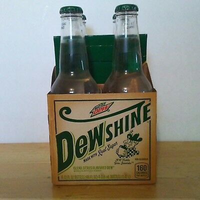 MOUNTAIN DEW SHINE 4 Pack with Carrier Limited Edition 4 Unopened 12oz Bottles