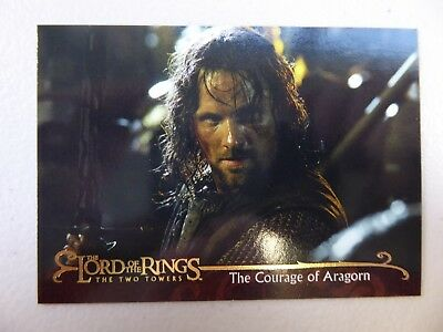 TOPPS Lord of the Rings: The Two Towers - Card #157 THE COURAGE OF ARAGORN
