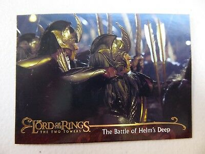 TOPPS Lord of the Rings: The Two Towers - Card #156 THE BATTLE OF HELM'S DEEP