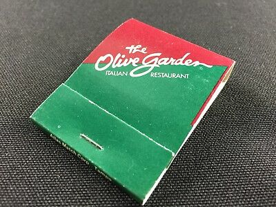 THE OLIVE GARDEN Italian Restaurant - Atlas Matchbook from ...