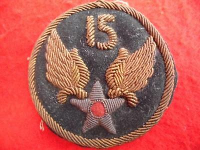 Beautiful WWII 15th Air Force bullion jacket patch