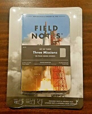 Field Notes FNC-39 NOTEBOOK SET with Friendship 7 Paper Module