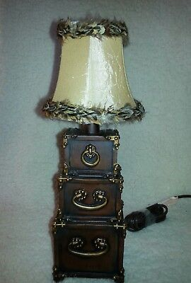 """Unique Brown/Taupe Feather Lamp Shade Small 4"""" x 5"""" Clip On"""