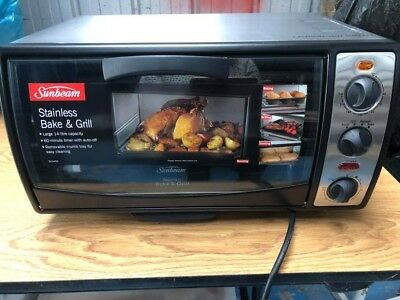 Sunbeam 14 Lt Stainless Bake and Grill Compact Oven Brand New