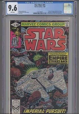 Star Wars #41 CGC 9.6 1980: Empire Strikes Back Part 3: featuring a NEW Frame