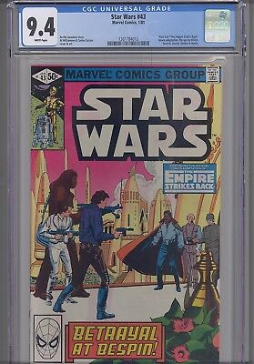 Star Wars #43  CGC 9.4 1981 Marvel  Comic: ESB part 5  story with Great Cover