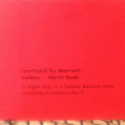 Voucher For 2 Nights At Courtyard By Marriott In SYdney Includes Breakfast