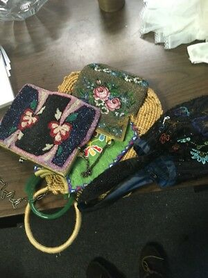 Lot 5 Old Purses As Is