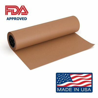 Pink Kraft Butcher Paper Roll - 18 Inch x 175 Feet (2100 Inch) - Food Grade FDA