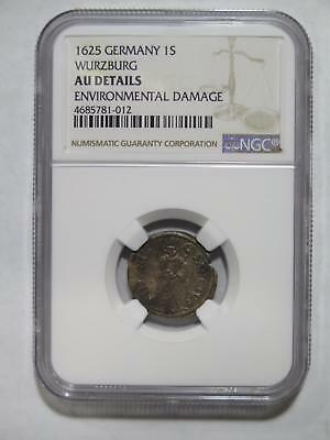 Germany Wurzburg 1625 1 Schilling Ngc Au-Details?? World Coin Collection Lot