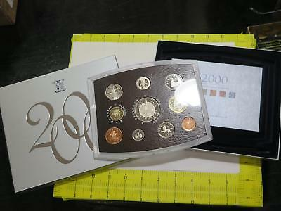 Great Britain 2000 United Kingdom £1 £2 £5 10 Coin Dcameo Proof Set Royal Mint