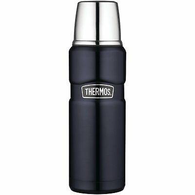 Thermos Stainless King 16 Ounce Compact Bottle, Midnight Blue