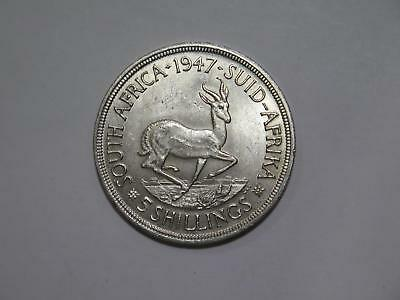South Africa 1947 5 Shillings Crown Size Silver Toned World Coin Collection Lot