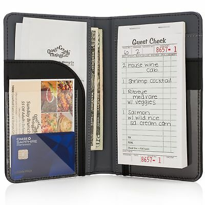 Premium Server Book  Waiter Book Organizer - Strongest  Thickest - Holds Guest