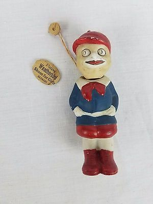 Peters Weatherbird Advertising Shoes Germany Porcelain Doll Figure Original Tag