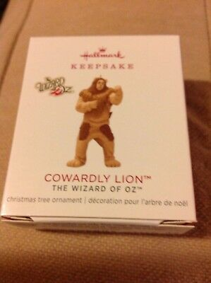 2018 Hallmark LIMITED EDITION Cowardly Lion MINIATURE Oz NIB hard to get!!! NR