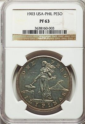 USA Administration Proof Peso 1903 PR63 NGC