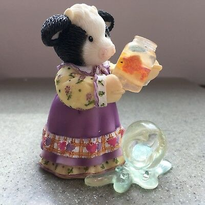 """Enesco MARY'S MOO MOOS  """"Friends Pick You Up When You Are Down"""" 114602"""