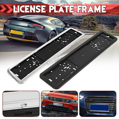 Car Universal European Euro UK EU Euro German Russian License Plate Frame Holder