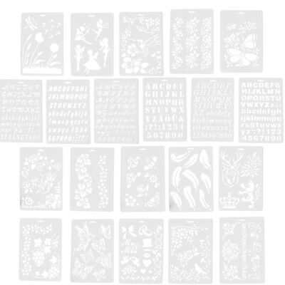 Letter Alphabet Number Layering Stencils Painting Scrapbooking PaperCardsCraft F