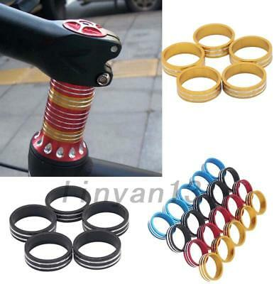 New 5xWashers Headset Spacer Aluminum 10mm For Road Bike MTB Bicycle Stem