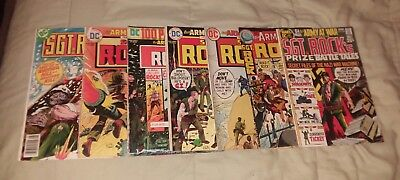 Sgt rock our army at war 7 issue bronze age dc comics lot run set collection