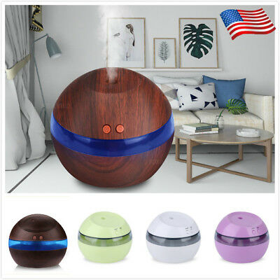 300ML USB Ultrasonic Air Aroma Humidifier LED Essential Oil Diffuser Purifier