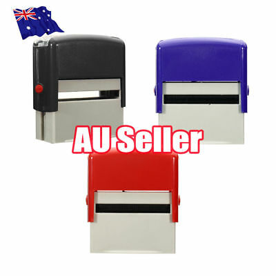 Custom Personalised Self Inking Rubber Stamp Kit Business Name Address DIY ON