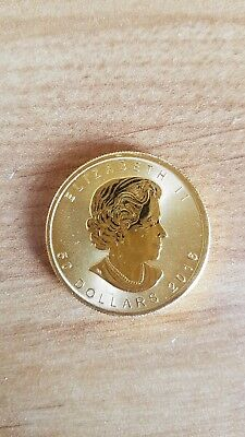 2016 1oz Canadian .9999 gold Bullion Maple Coin