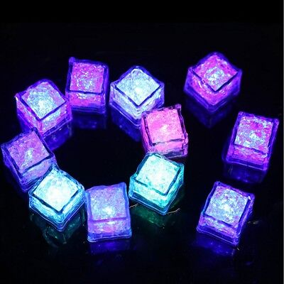 5 Pcs LED Glow Ice Cubes Multiple Color Lights up Toy Party Bars and-Festiva;DE