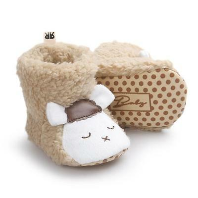 Sheep Plush Boots Baby Girl Boy Soft Sole Infant Warm Newborn Crib Shoes Sneaker