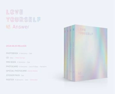 BTS-[Love yourself結'Answer'] 4th ALBUM PRE-ORDER + PHOTOCARD + POSTER
