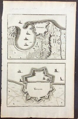c.1660 views of Antibes and Toulon by Gaspard Merian