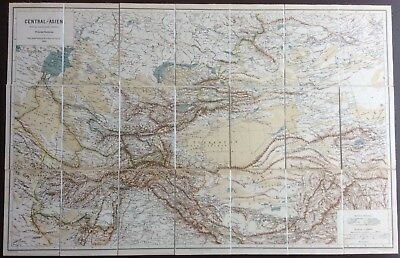 Rare 1880 map of central Asia by Josef Chavanne