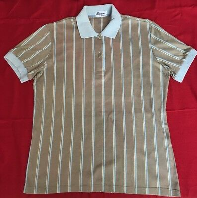 True Vintage Original 70er 80er Herren Polo-Shirt M oliv Hogan by Head