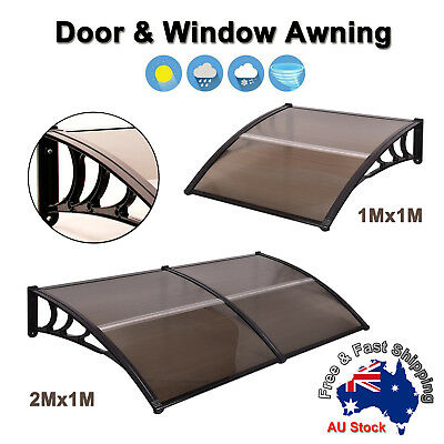 1M/2M DIY Window Door Awning Canopy Patio UV Rain Cover Outdoor Sun Shield A