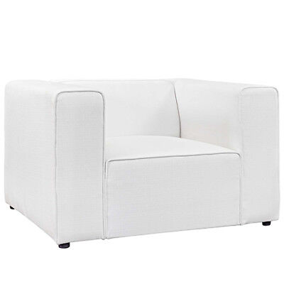 Modway Furniture Mingle Upholstered Fabric Armchair in White - EEI-2718-WHI