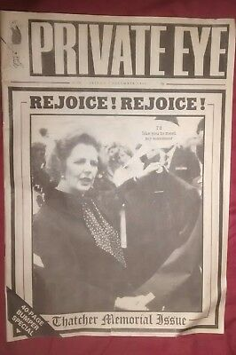 Private eye magazine - December 1990 - Thatcher ousted