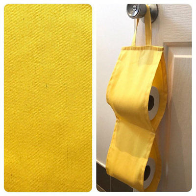 Double Toilet Roll Holder/ Toilet Paper Holder/ Bathroom Storage - Sun Yellow