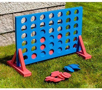 Giant 4 In A Row Connect Garden Outdoor Game Kids Adults Family Party Fun Gift