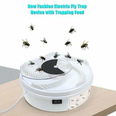 Electric Automatic Flycatcher Fly Trap Pest Reject Control Catcher Mosquito U1