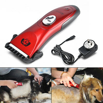Cordless Electric Dog Clipper Comb Set Animal Hair Blade Cat Pet Grooming