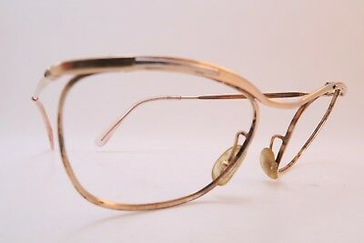 Vintage 50s eyeglasses frames gold filled made in France women's medium