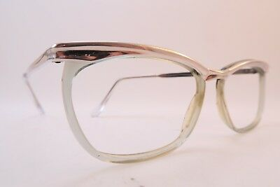 Vintage 50s eyeglasses frames white gold filled 1-10 12K size 51-18 splendid