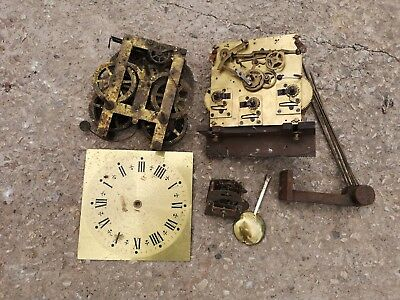 Collection of clock parts and mechanisms