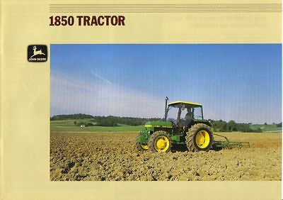 John Deere 1850 Tractor Brochure. Immaculate Condition. 8 Pages.